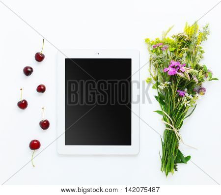 Working Place With Tablet