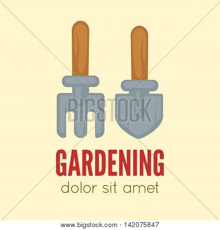 Garden center emblem or label, badge, gardening logo designed element. Vector Illustration.