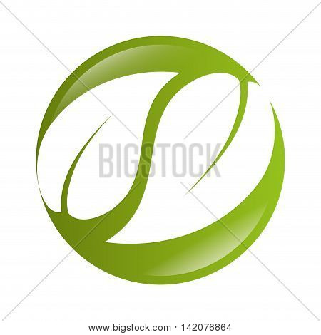 leaves  eco ecology green circle symbol vector graphic isolated and flat illustration