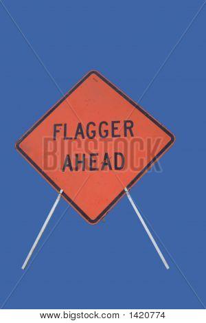 Flagger voraus Bau Zeichen