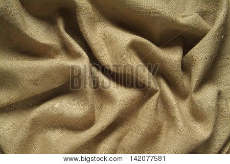 Background of Drapery with jute sack cloth