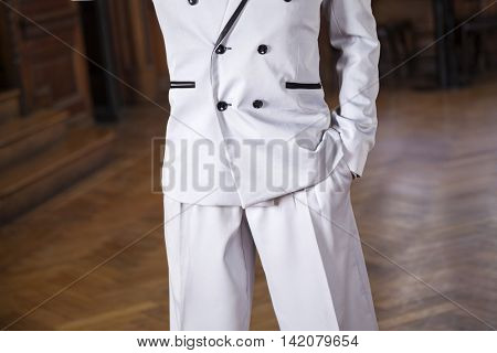 Midsection Of Tango Dancer With Hand In Pocket