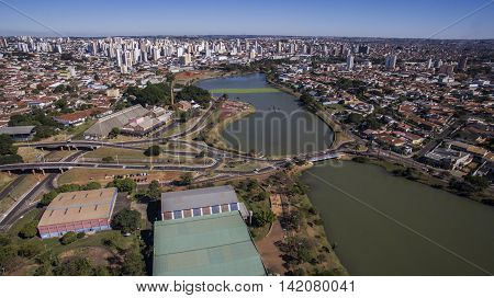 Aerial View Of The City Of Sao Jose Do Rio Preto In Sao Paulo In Brazil. July 2016 .