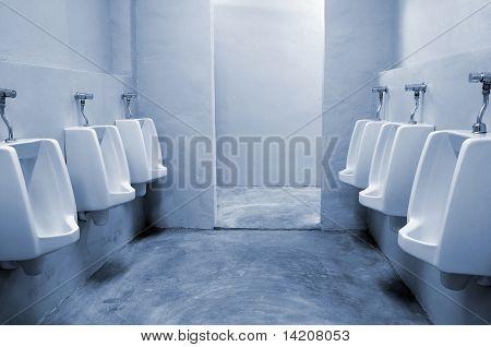 urinals in the bathroom