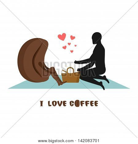 Coffee Lovers. Lovers On Picnic. Rendezvous In  Park. Coffee Beans And Man. Rural Jaunt Lovers. Meal