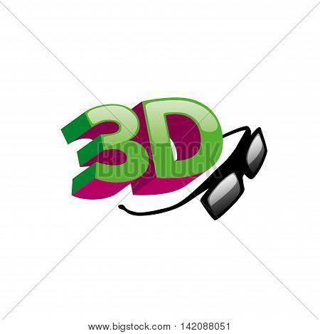 3d logo design template. Vector illustration of icon