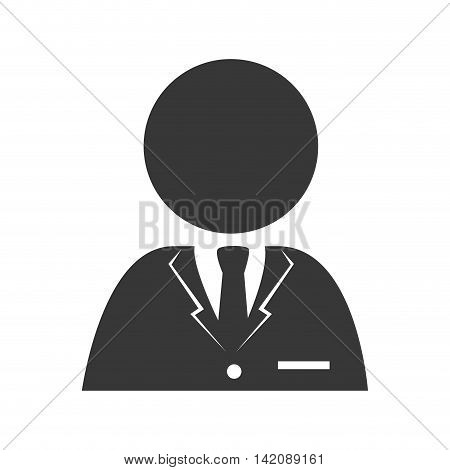 man tie person reception suit employee business ceo vector graphic isolated and flat illustration