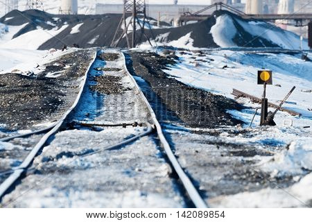 Railway Points, Deformation Of  Track, Built On Permafrost.