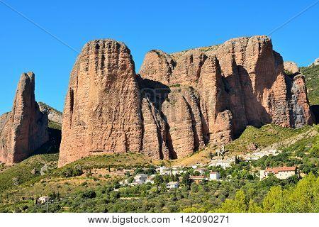 Mallos de Riglos, Huesca, Aragón, España. Montaña