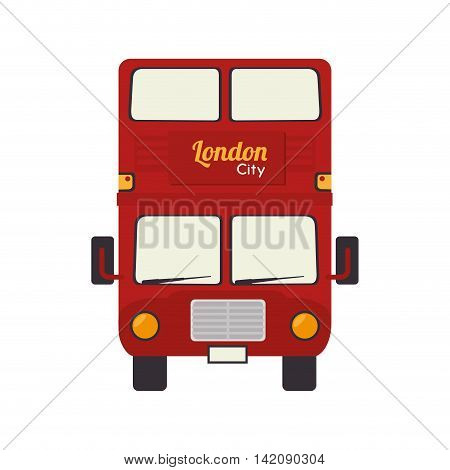 london bus vehicle british famous icon united kingdom english vector graphic isolated and flat illustration