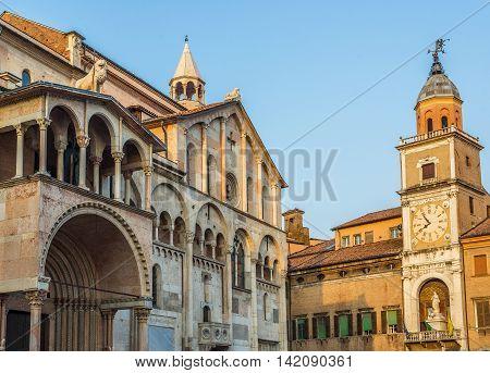 Cathedral Of Santa Maria Assunta E San Geminiano Of Modena, In Emilia-romagna. Italy.