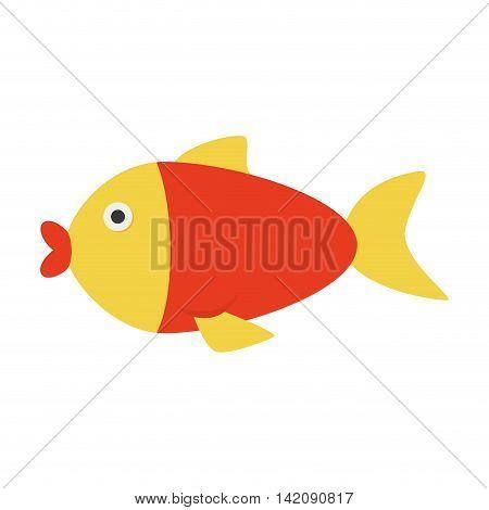 fish sea summer nice ocean aqua fishing vector graphic isolated and flat illustration