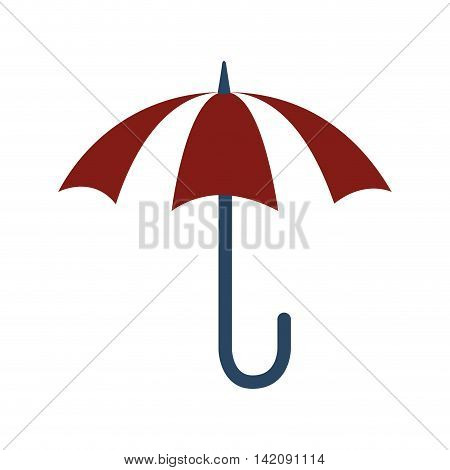 umbrella retro rain parasol handle weather water vector graphic isolated and flat illustration