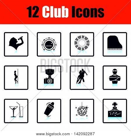 Set Of Twelve Night Club Icons