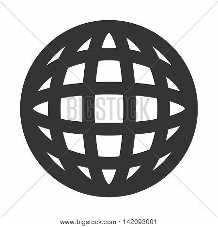 global icon globe connection network worldwide map corporation vector graphic isolated and flat illustration