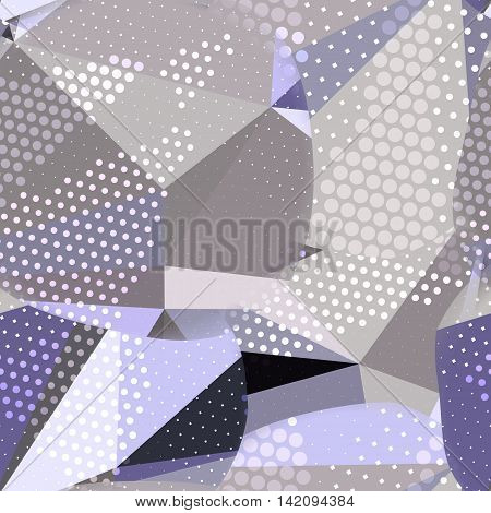 Abstract seamless chaotic pattern with urban geometric elements, scuffed, drops, sprays, triangles. Texture pattern for covers, banners, booklets, etc. For web or printed media.
