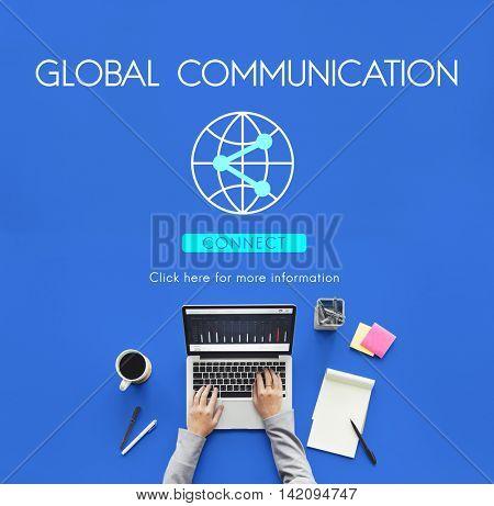 Global Communication Technology Internet Connect Concept