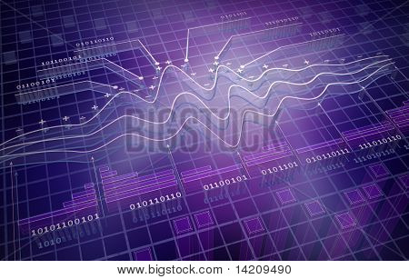IT analytics , 3D background