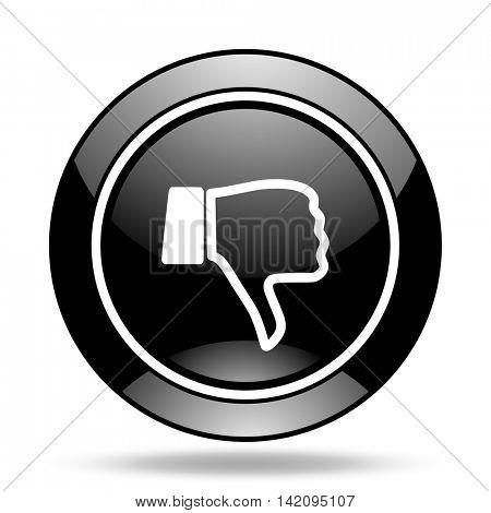 dislike black glossy icon