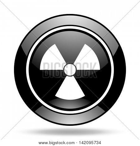 radiation black glossy icon