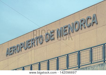 Menorca/Spain. 18th June 2012. Menorca airport connects the tourist island of Menorca with many European destinations.
