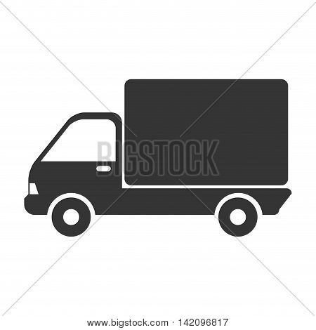 truck cargo side delivery transport industry shipment vehicle transporter vector graphic isolated and flat illustration