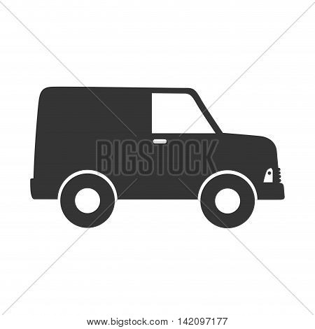 delivery truck transportation cargo van wagon shipment vector graphic isolated and flat illustration