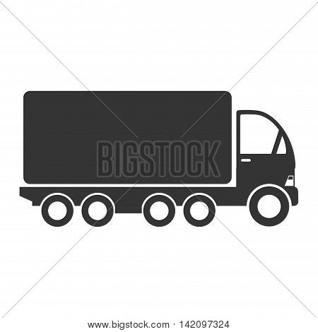 truck cargo delivery transport industry shipment vehicle transporter vector graphic isolated and flat illustration