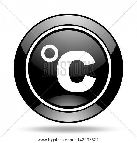 celsius black glossy icon
