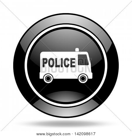 police black glossy icon