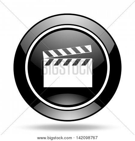 video black glossy icon