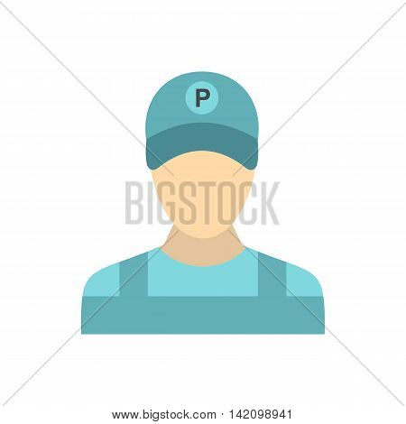 Man valet icon in flat style isolated on white background. People symbol
