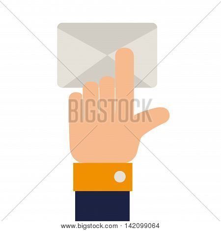 check mail finger inbox send mailbox read delivery vector graphic isolated and flat illustration