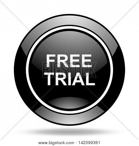 free trial black glossy icon