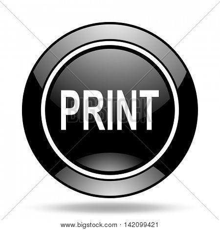 print black glossy icon