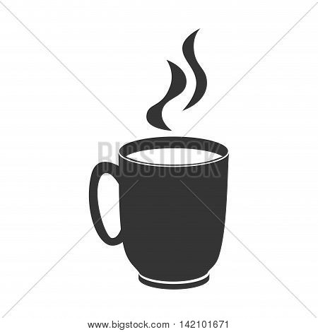 coffee cup mug hot cafe drink morning teacup steam vector graphic isolated and flat illustration