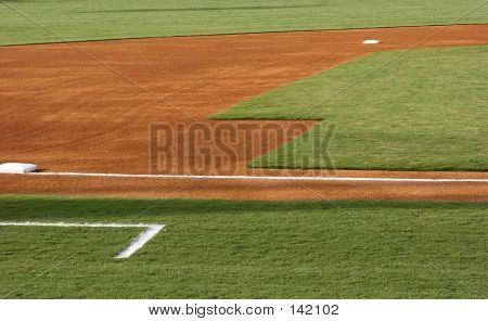 Third Base And Foul Line