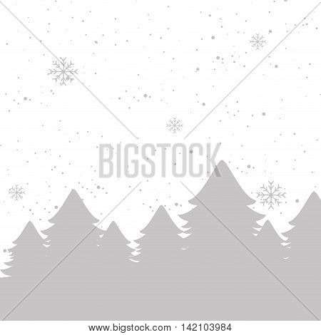snow tree flakes background sparkle winter season vector graphic silhouette isolated  illustration