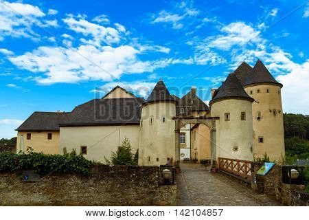 The Castle of Bourglinster in Bourglinster, Luxembourg