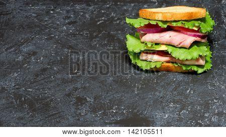 Sandwich Over Spotty Black