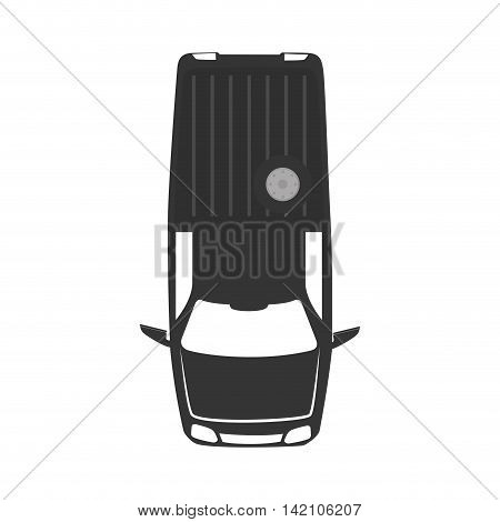 vehicle pickup wagon top transportation car sedan automobile vector graphic isolated and flat illustration