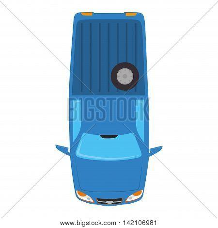 pickup wheel wagon vehicle top transportation car sedan automobile vector graphic isolated and flat illustration