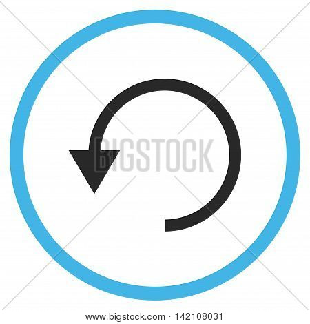Rotate Ccw glyph icon. Style is bicolor flat rounded iconic symbol, rotate ccw icon is drawn with blue and gray colors on a white background.