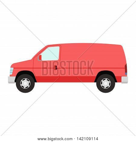 Car vehicle mini van bus transport type design sign technology style vector. Generic car mini van design flat vector illustration isolated on white. Transport mini bus object