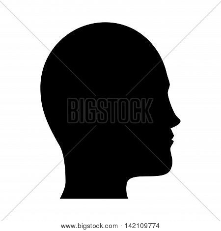 person side human man adult profile user black silhouette vector graphic isolated and flat illustration