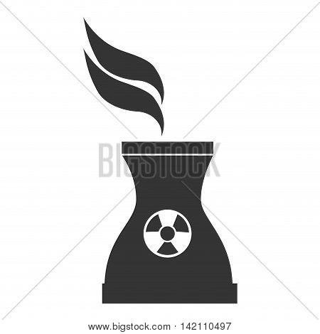 nuclear tower vape icon symbol industry plant vector graphic isolated and flat illustration