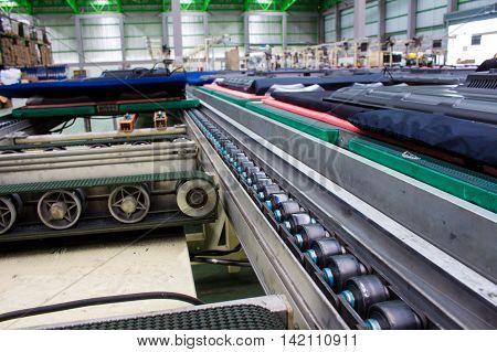 conveyor belt and chain conveyor in industry.