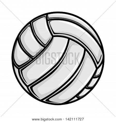 volleyball ball game sport play handball object  vector graphic isolated shiny  illustration