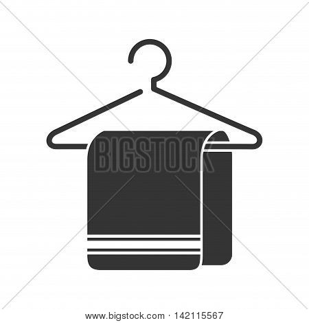 towel bath  clean hanger hotel silhouette striped vector graphic illustration isolated