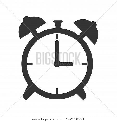clock time alarm old retro bell hand hour minute ticking vector graphic isolated illustration